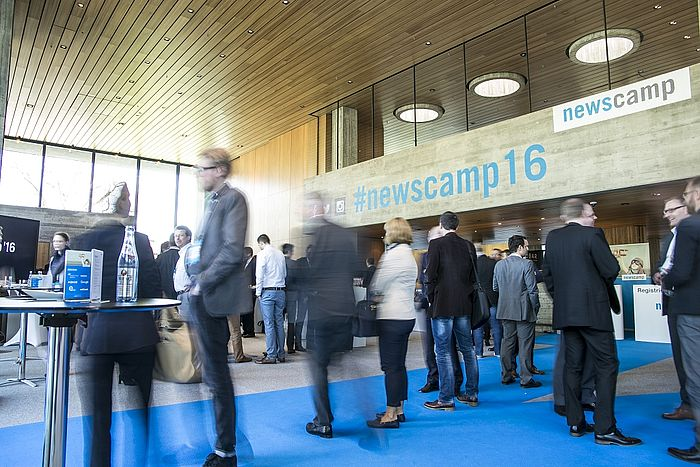 Kaffeepause beim newscamp 2016 Kongress am Park